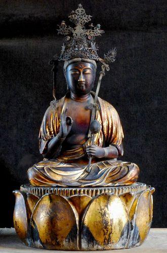 Gilt-Wood Sho-Kannon Bosatsu Bankei Early-Edo Period
