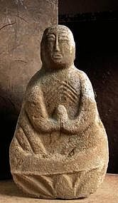 Stone Jizo Bosatsu Edo Buddha bodhisattva garden statue