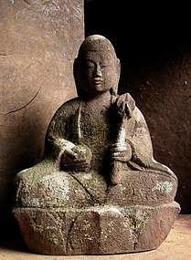 Stone Jizo Bosatsu bodhisattva Buddha garden statuary