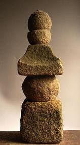 Stone Gorinto (Five-Tiered Stupa) Muromachi 15/16th c.