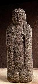 Figurative Stone Jizo Bosatsu bodhisattva Edo 18 c.