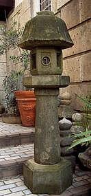 Stone Lantern Ishi-Doro Garden Sculpture Tea Edo