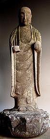 Stone Jizo Bosatsu bodhisattva Buddha Edo 19th c.
