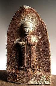 Stone Jizo Bosatsu bodhisattva Buddha Edo 18th c.