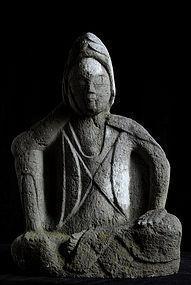 Stone Nyoirin Kannon Bosatsu Kanpo 2 (1742) Edo