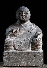 Stone Kukai Kobo Daishi Shingon Jizo Buddha Meiji