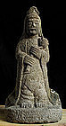 Stone Sho-Kannon Bosatsu Bodhisattva Jizo Edo