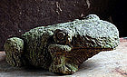 Vintage Stone Frog Early-Showa 20 c.