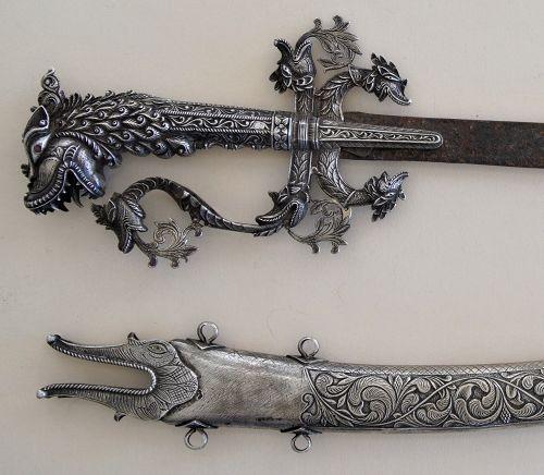 "Sword Silver and Scabbard Vintage Sri Lanka ""Kasthane"" - Glenn Erso Co"