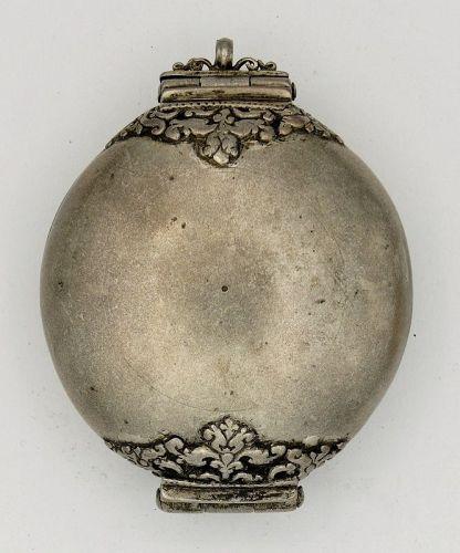 Lime Box (Killotaya) Silver Antique Sri Lanka- Glenn Erso Collection