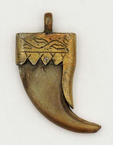 Claw Amulet Pendant Silver Antique Sri Lanka Ceylon - Glenn Erso