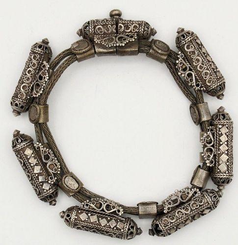 Bracelet Bangle Talisman Silver Antique Sri Lanka Ceylon - Glenn Erso