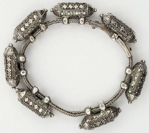 Bracelet Bangle Anklet Talisman Silver Antique Sri Lanka Ceylon