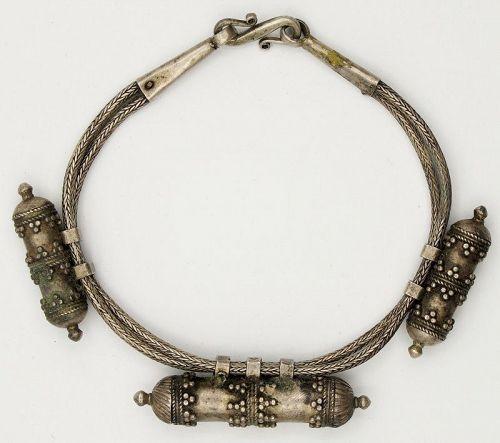 Bracelet Bangle Anklet Talisman Antique Silver Sri Lanka Ceylon