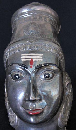 Shiva Lingam Cover  Hindu/Tamil Silver Antique Sri Lanka / South India