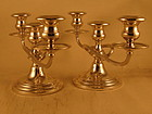 Pair of three-light candelabra by Gorham