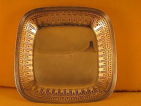 "Bowl by Tiffany, 1913, 9"" square"