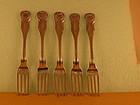 5 Dinner forks by Curry&Preston, Phila, circa 1830