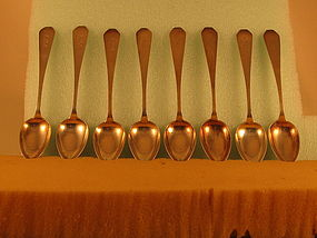 8 Dessert spoons marked ALLCOCK&ALLEN,NY, c.1810