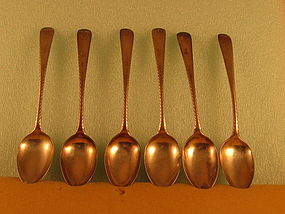 6 Dessert spoons by Kirk, Baltimore, circa 1850