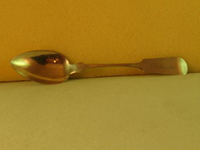 Dessert spoon marked R.A.Baird, Ravenna,OH;mid-19th C.