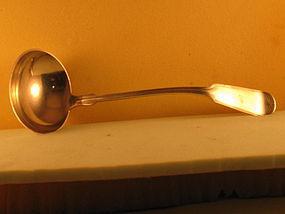 Soup ladle by Wood&Hughes, 3rd  qtr 19th C.