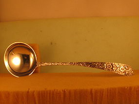 Soup ladle (repousse) by Kirk, Baltimore,1 qtr. 20th C.