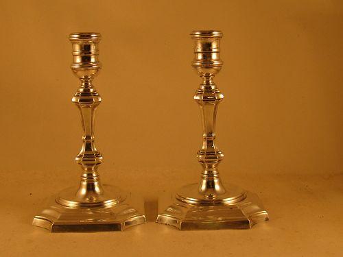 Pair of candlesticks marked Gebelein