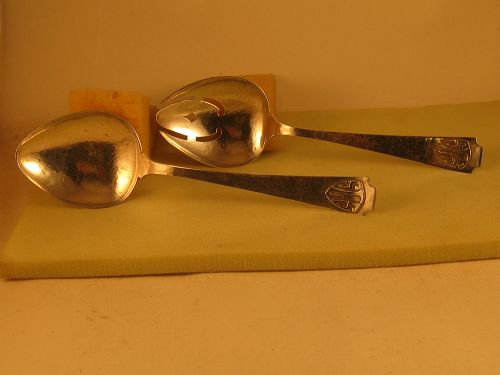 Salad serving set by F. Novick, Chicago, first half 20th century