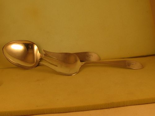 Salad serving set by Porter Blanchard; Burbank, CA; mid-20th C.