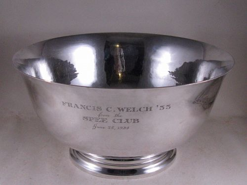 Punch bowl by Gebelein, Harvard Spee Club, 1934