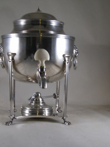 Silver-plated English kettle-on-stand