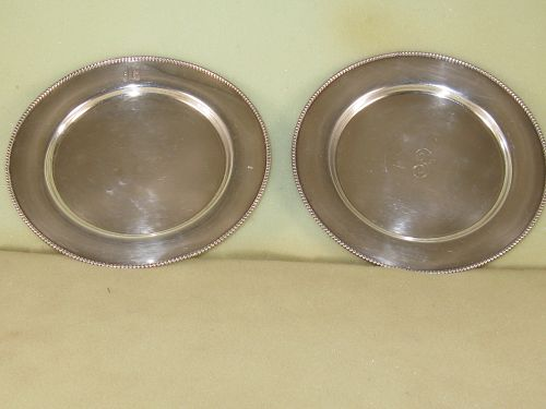 Pair of small plates by Shreve & Co., San Francisco