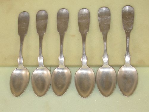 Six teaspoons by W.Kendrick&Son,Louisville,circa 1870's