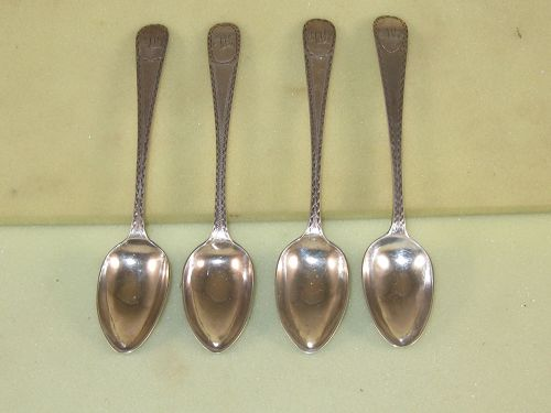4 Teaspoons by Joseph Richardson, Jr., Phila.,c.1790's