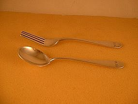 Youth fork and spoon by Porter Blanchard