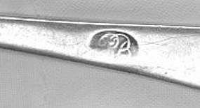 Teaspoon by Robert Brookhouse; Salem, MA, circa 1805