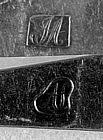 3 Teaspoons marked John Adam; Alexandria, VA; c.1810