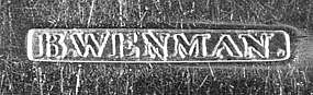 Tablespoon by Bernard Wenman, New York, circa 1815