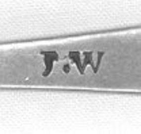 Teaspoon by JW; circa 1805