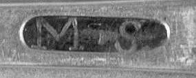 Fiddle teaspoon by MS, circa 1830