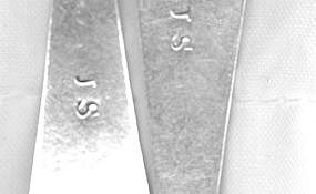 Pair of teaspoons marked JS, circa 1810