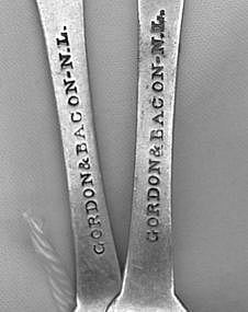 2 Teaspoons marked GORDON&BACON;New London,CT