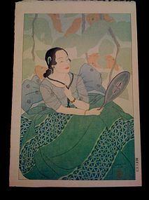 Paul Jacoulet, Rainbow Series, Chamorro Woman, 1934