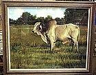 Greg Biolchini, Pastel, Florida Brahma Bull
