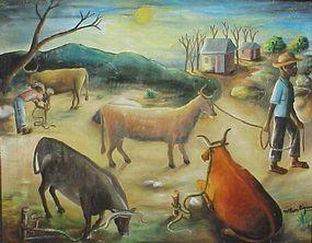 Wilson Bigaud, Haitian, 1950's