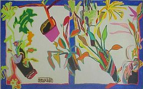 Richard DeQuattro,Painting,Captiva Garden