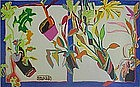 Richard DeQuattro,Painting,Captiva Garden