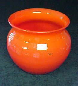 Czech Glass Orange Bowl