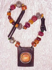 Twiga, Antique African  Ceremonial Necklace